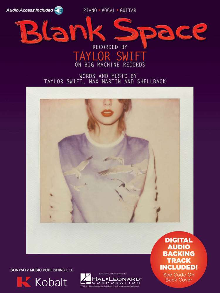 Hal Leonard Blank Space - Swift - Piano/Vocal/Guitar - Sheet Music