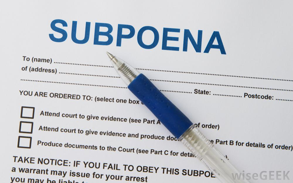 Your out of state subpoena in California still has to comply with - Civil Summons Form