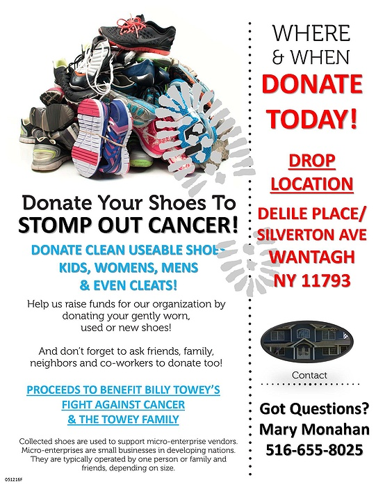 Shoe Drive - Stomp Out Cancer
