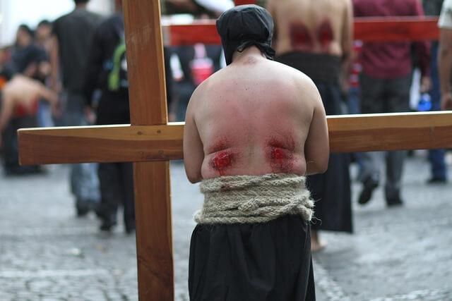 la settimana santa in taxco messico, i penitenti