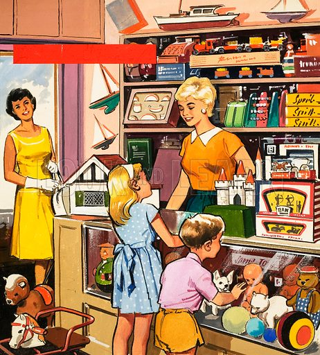 Toy shop assistant - Look and Learn History Picture Library