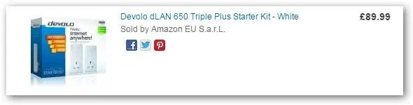 Devolo dlan 650 triple plus from Amazon
