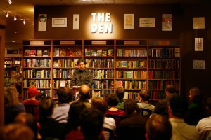 Jeffrey Overstreet at Third Place Books, by Fritz Liedtke