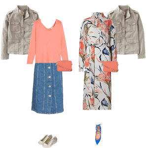 Creating a Spring Capsule Wardrobe with existing pieces and new trends