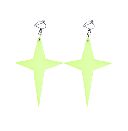 GLOW IN THE DARK CROSS EARRINGS  LookSharpStore