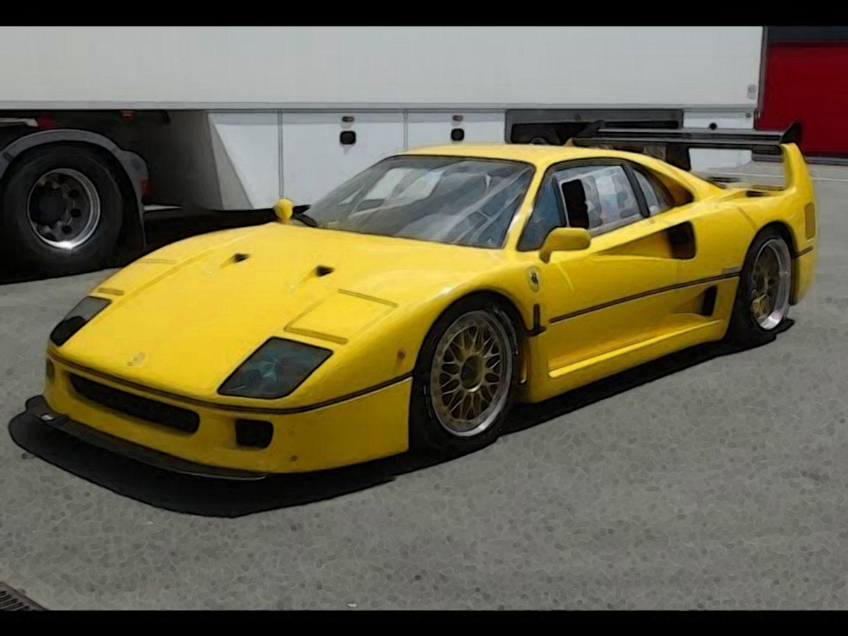 Gta Car Wallpaper Ferrari F40 Lm Yellow 1 18 Looksmart Models