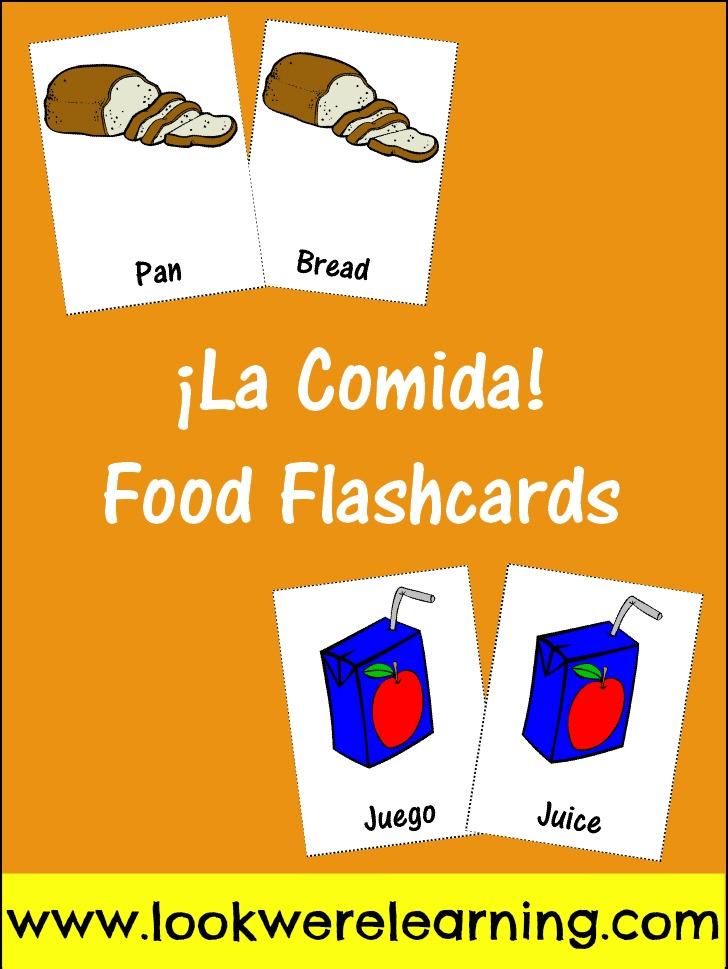 Free Printable Spanish Food Flashcards Look! We\u0027re Learning!
