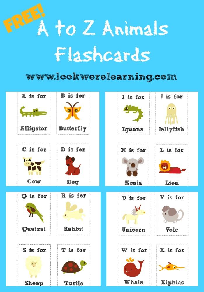 Free Printable Flashcards Alphabet Animals - Look! We\u0027re Learning!