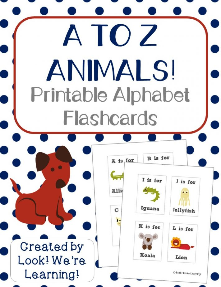 Free Printable Flashcards Alphabet Animals - Look! We\u0027re Learning!