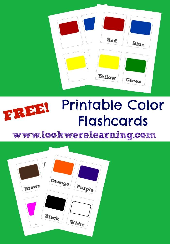 Free Printable Flashcards Colors - Look! We\u0027re Learning!