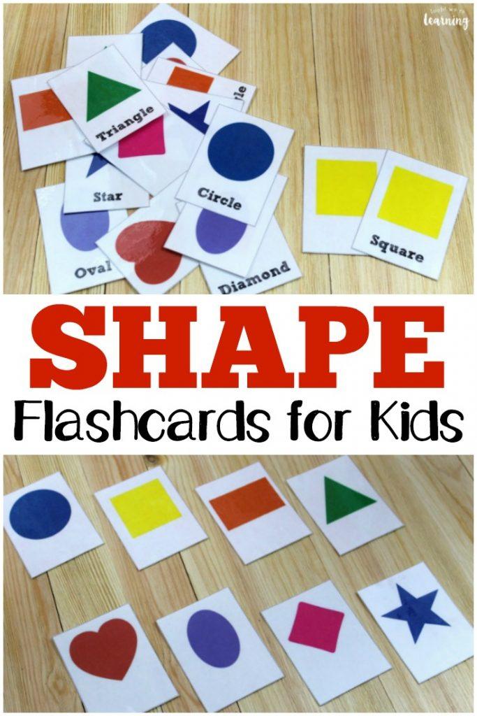 Free Printable Flashcards Shape - Look! We\u0027re Learning!