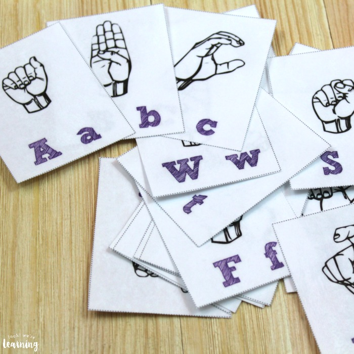 Free Printable Flashcards Sign Language Alphabet