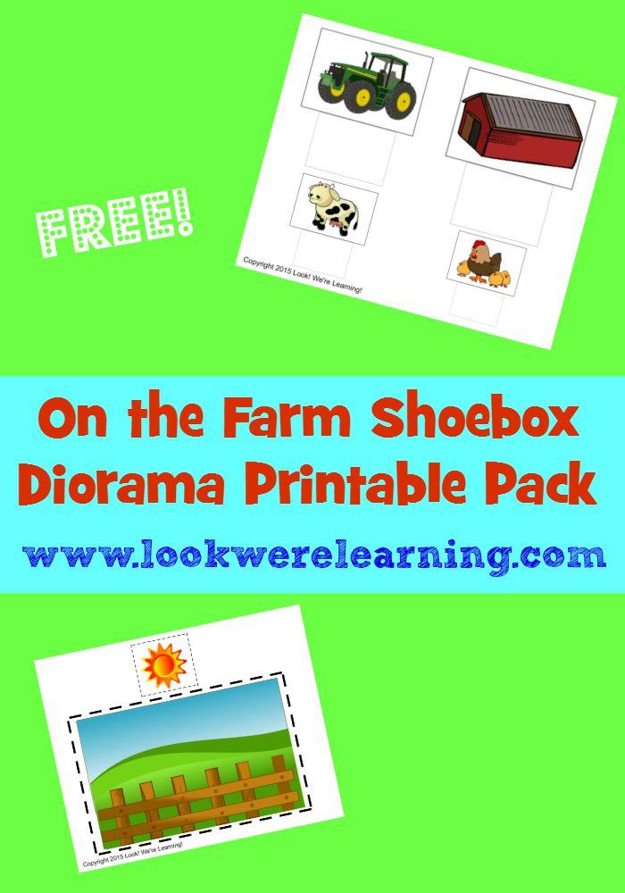 Farm Shoebox Diorama Project - Look! We\u0027re Learning!