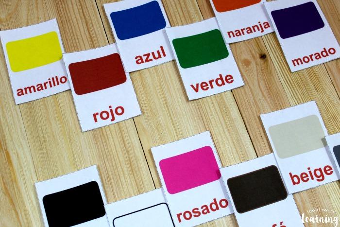 Printable Spanish Flashcards Spanish Color Flashcards - Look! We\u0027re