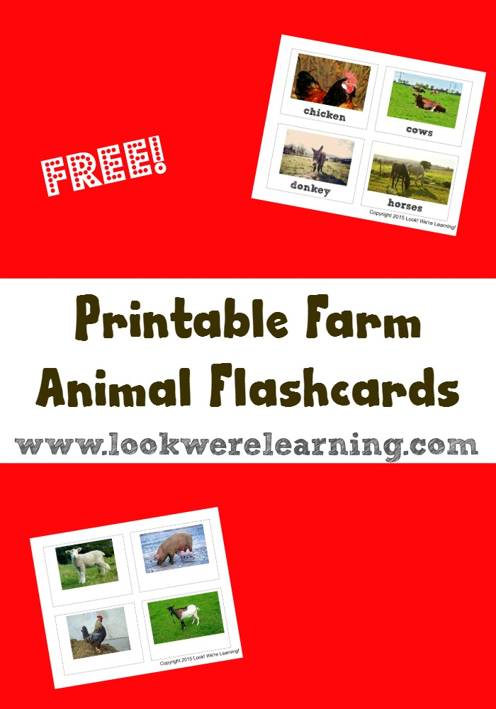 Printable Farm Animal Flashcards - Look! We\u0027re Learning!