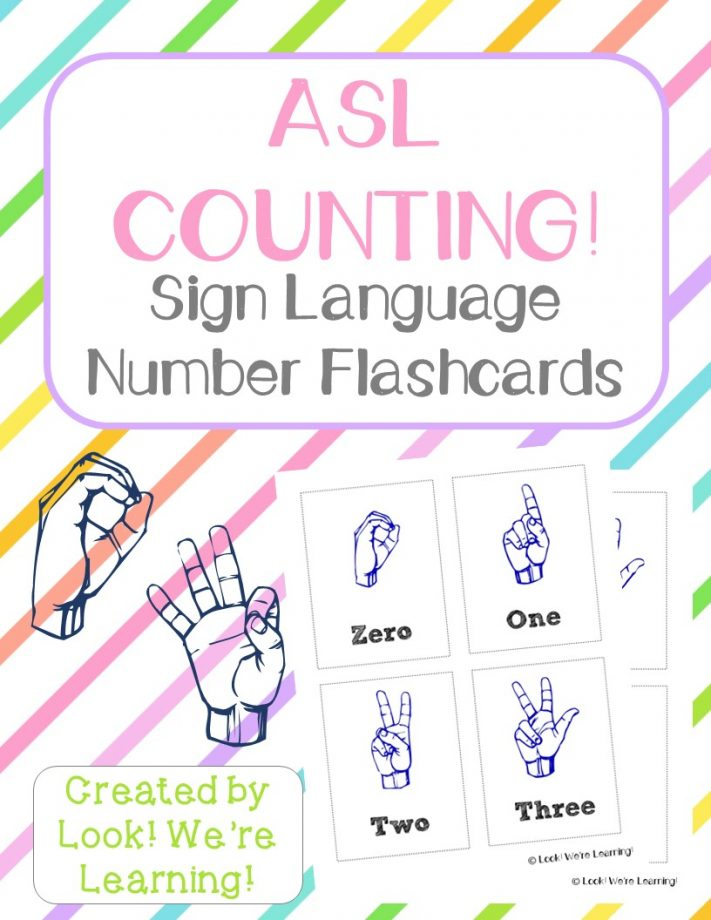 Free Printable Flashcards ASL Number Flashcards