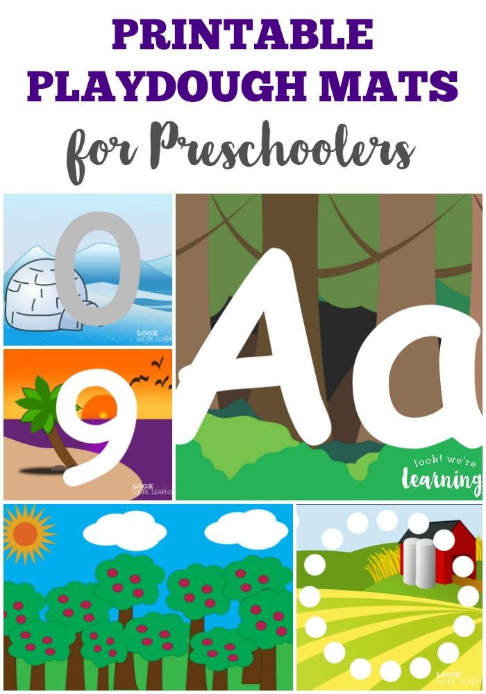 Printable Preschool Playdough Mats - Look! We\u0027re Learning!