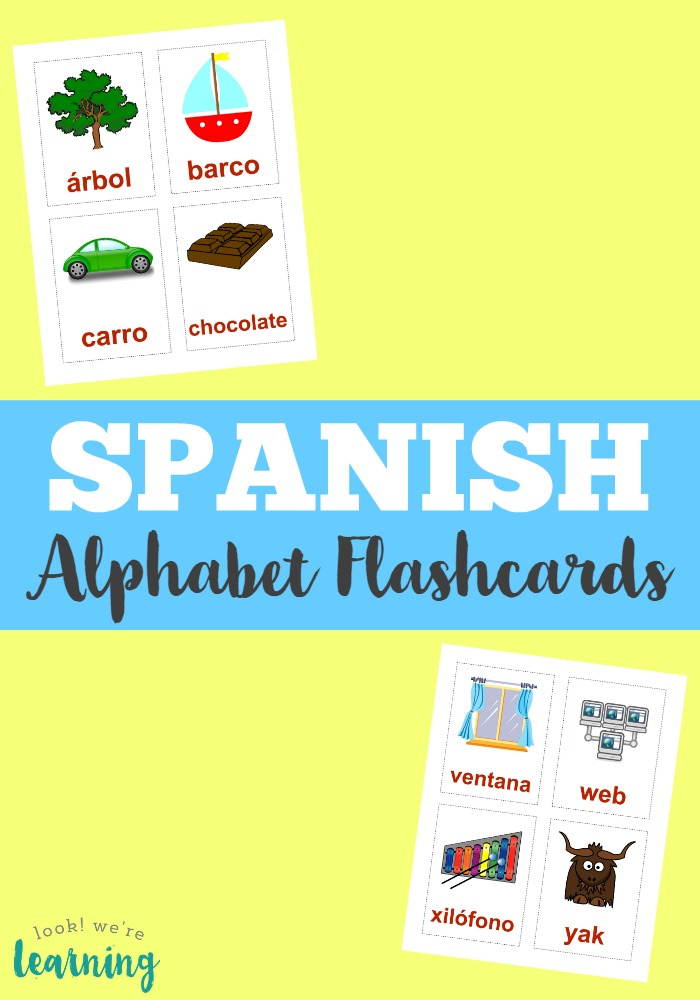 Printable Spanish Flashcards Spanish Alphabet Flashcards - alphabet in spanish