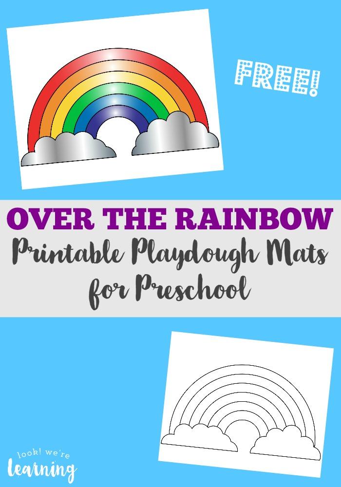 Preschool Playdough Mats Rainbow Playdough Mats