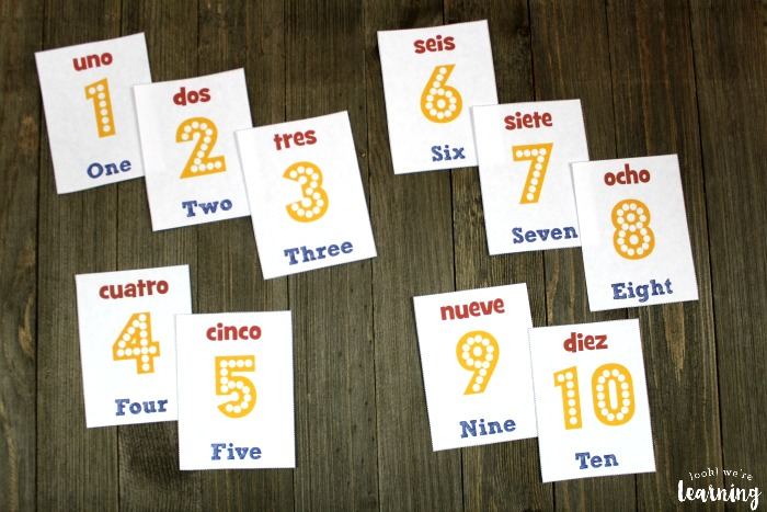 Spanish Number Flashcards 1-10 - Look! We\u0027re Learning!