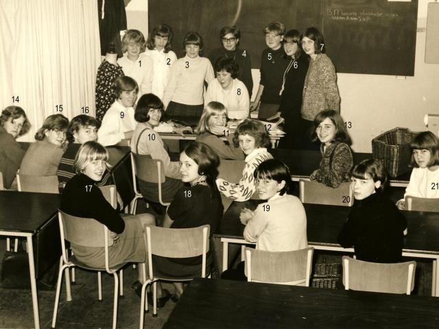 Monica Huishoudschool schooljaar 1965 1966