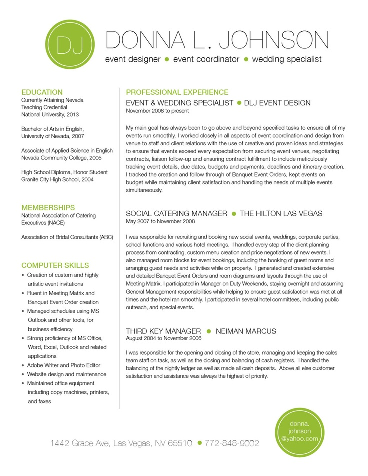 Templates for Resume - Examples of Template for Resumes