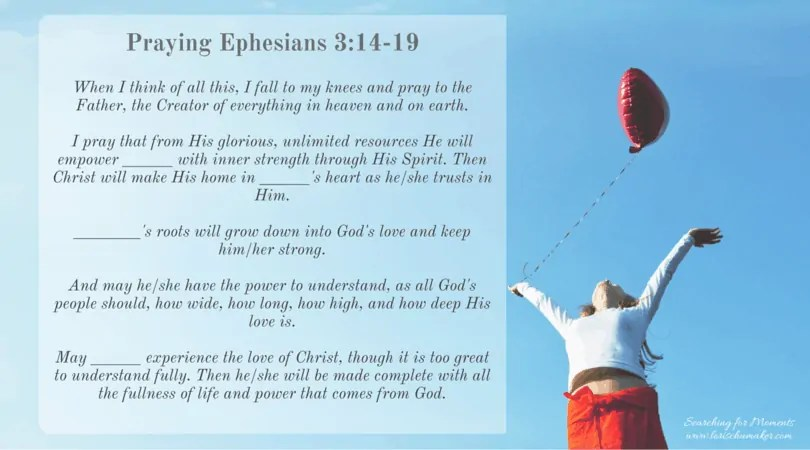 Praying Ephesians 3-14-19 -Moments of Hope with Lori Schumaker - When Discouragement Threatens Your Hope