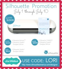 Silhouette Designer Edition Promo + GIVEAWAY  Lori Whitlock