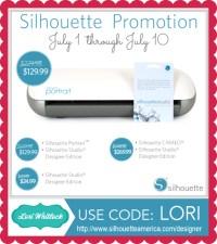 Silhouette Designer Edition Promo + GIVEAWAY  Lori Whitlock
