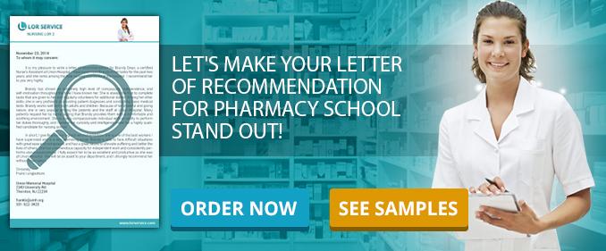 Pharmacist Letter of Recommendation Sample Pharmacy LoR - pharmacy letter