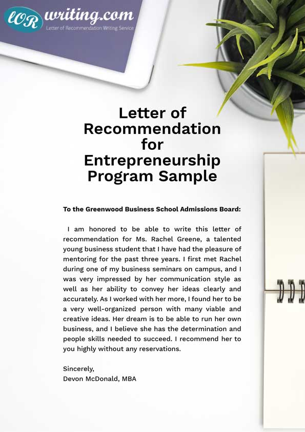 Perfect Letter of Recommendation Examples + Tips