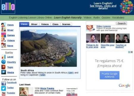 ello-mejores webs para aprender ingles gratis online