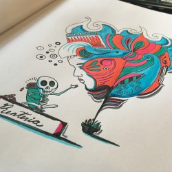 Colorful Artwork Featuring Skully