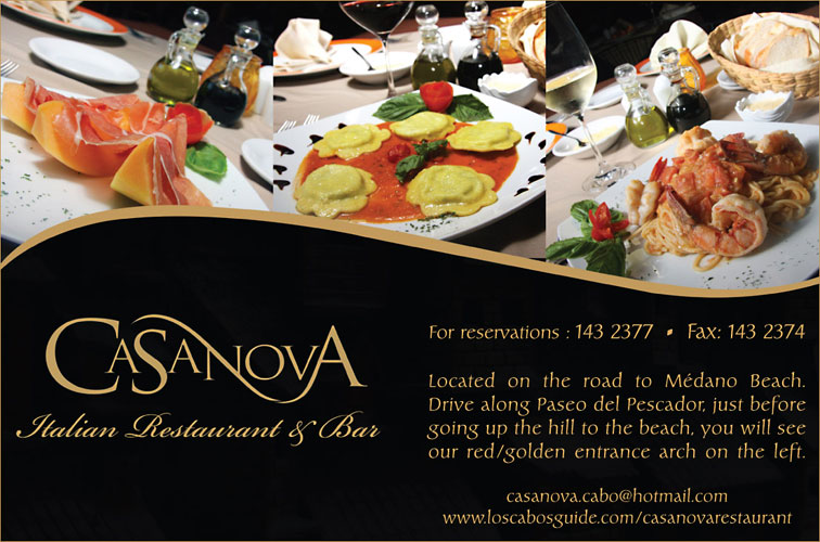 Casanova Restaurant - Ad Proof - Los Cabos Magazine Issue 21 - Cabo