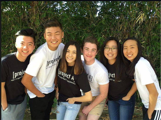 Left to right: Joshua Han. Brandon Choi. Christen Capobianco. Matthew Gardner. Anna Park. Anna Shim. Photo from Project A Facebook page. Used with permission.