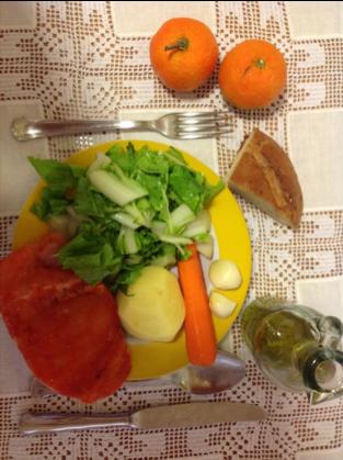 Ingredientes para  Acelgas con patatas y pechuga de pavo