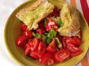 ingredientes gazpacho troceados