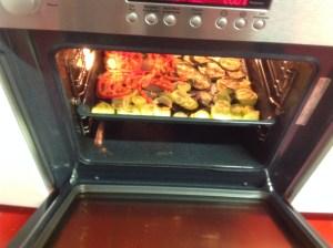 verduras de lasaña de verduras horneadas