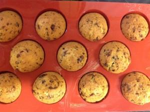 Muffins en sus moldes