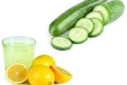 وصفة مشروب الخيار والليمون للتنحيف