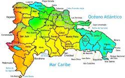 Mapa de las Regiones de República Dominicana