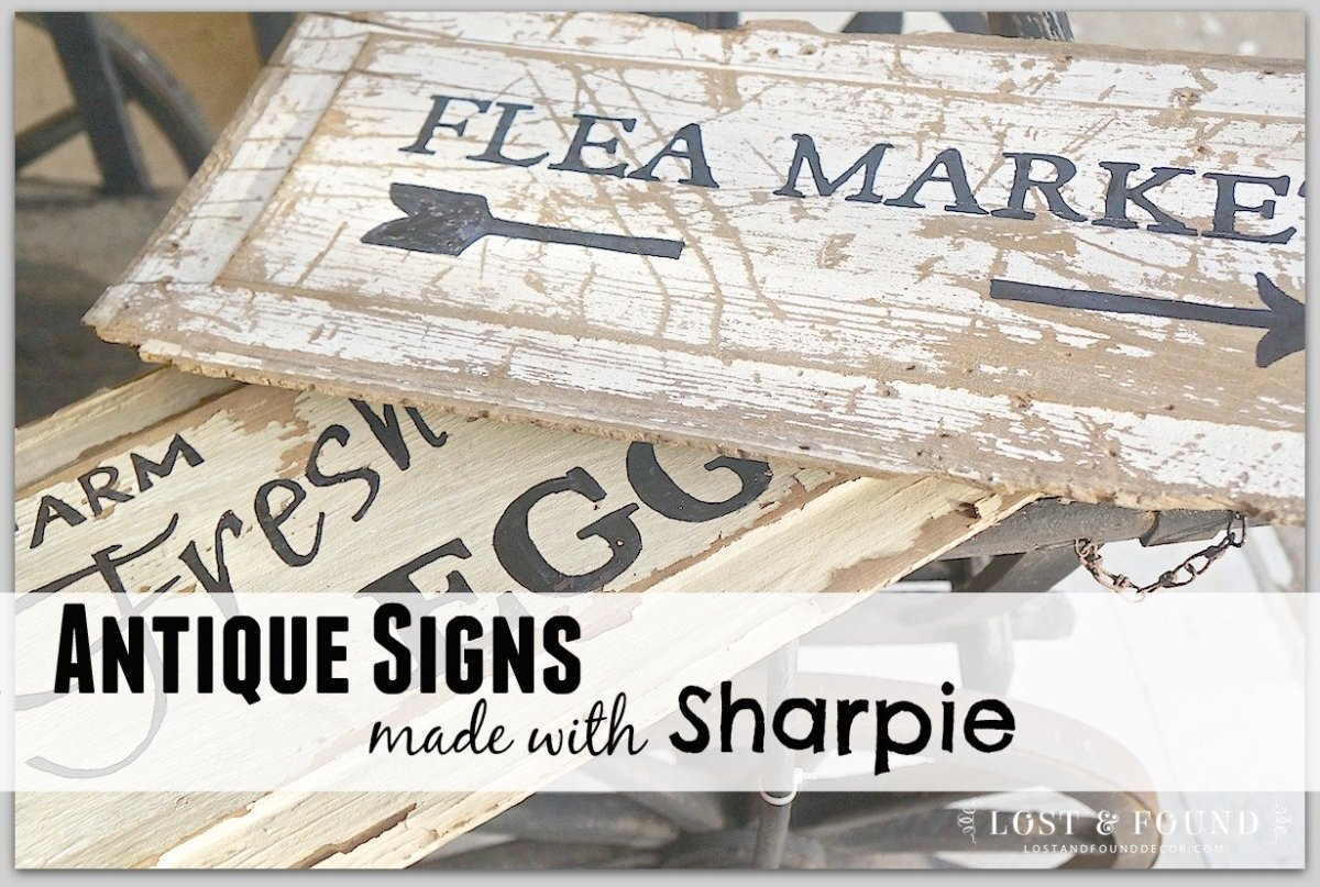 How to Make an Antique Sign with Fusion and Sharpie
