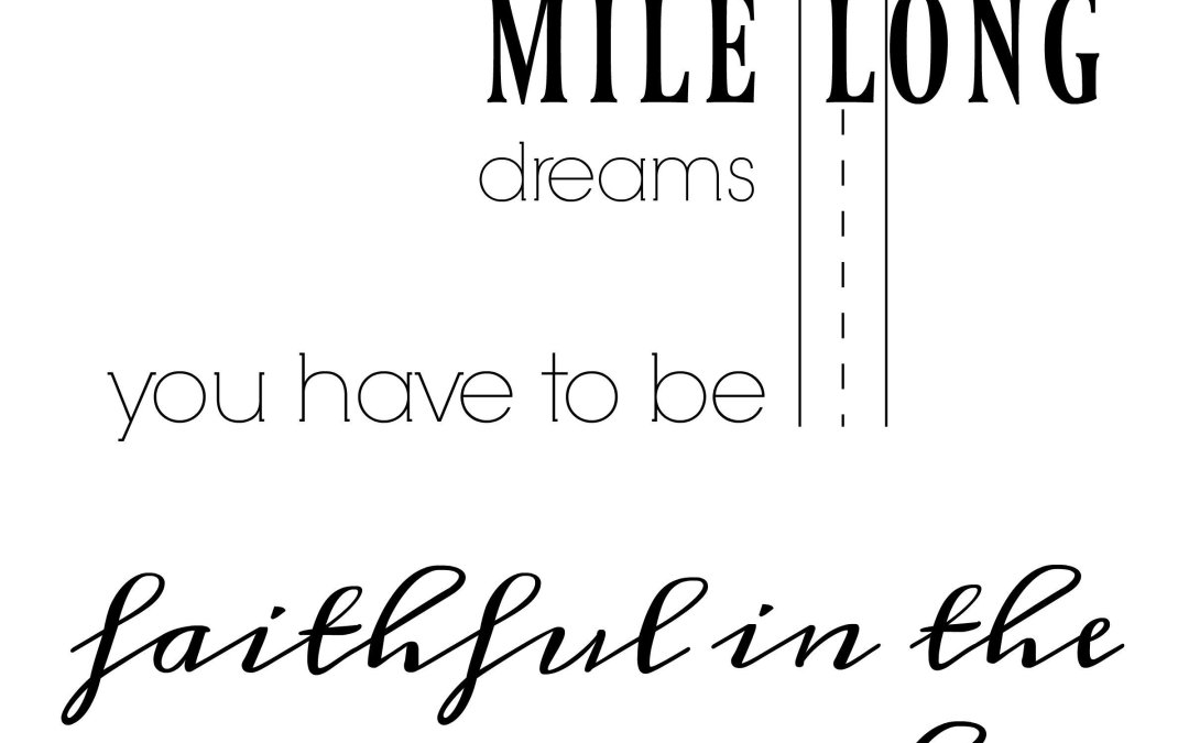 Achieving Big Dreams with Free Printable