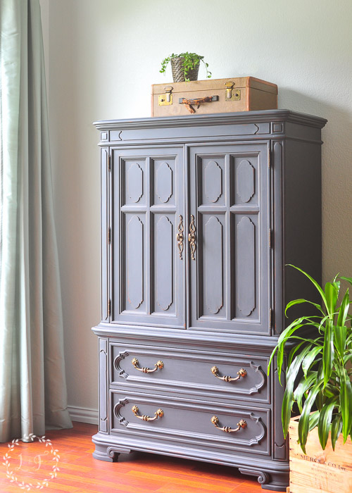 Painted Vintage Thomasville Chest In Fusion Ash Lost Found