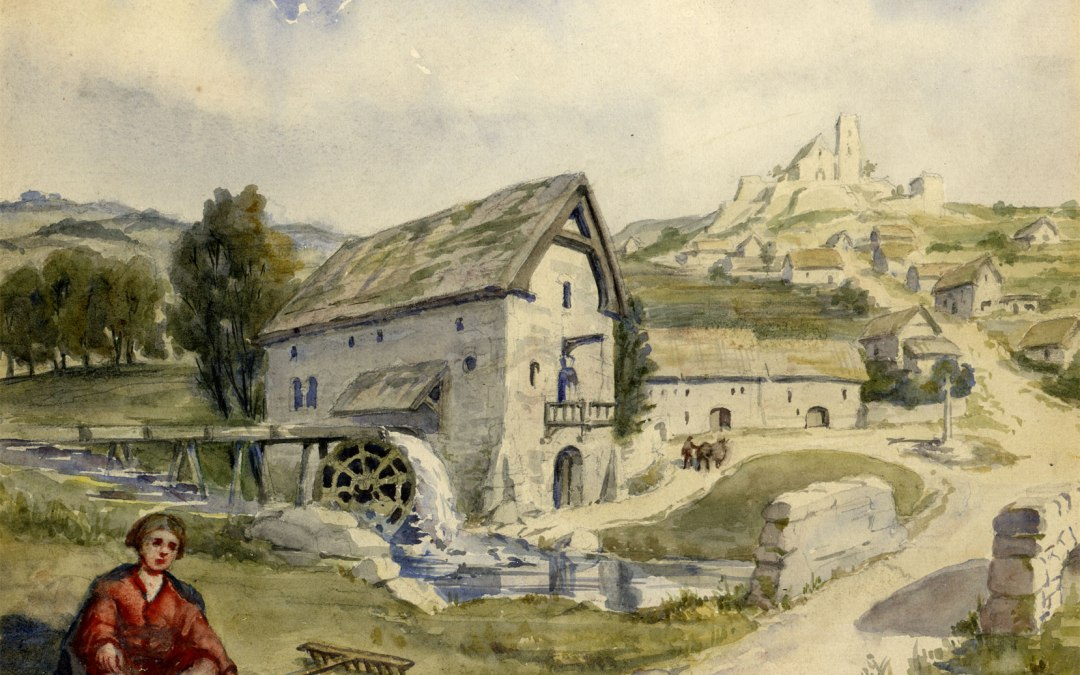 What were medieval houses and structures built from?