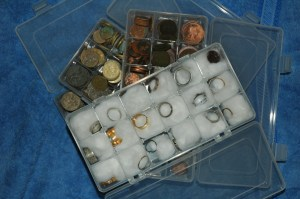 Tool Compartment Organiser - Simple way of storing your Metal Detecting Finds - Coins - Jewellery & Rings