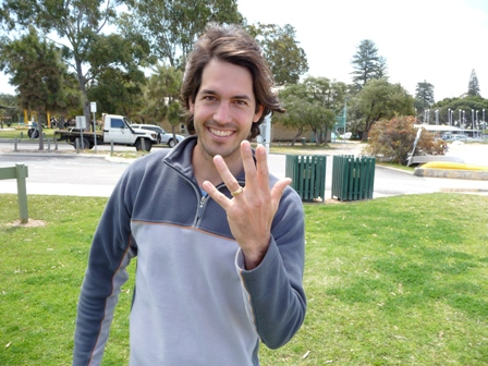 Very Happy Carlos with his reunited gold wedding ring