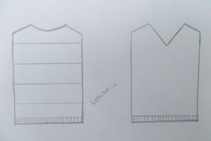 Streifenshirt Modellskizze neu