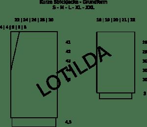 LOTILDA Kurze Strickjacke Grundform