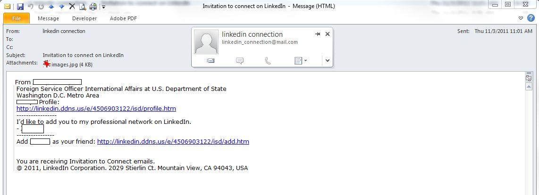 Linkedin invitations sample
